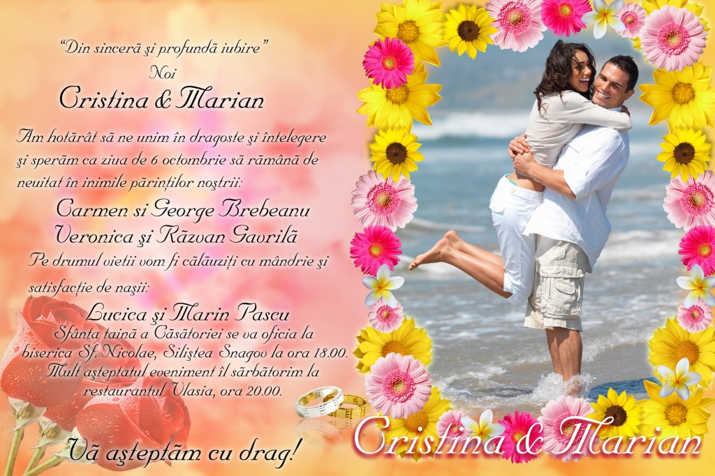 Invitatie De Nunta Magnetica 2014