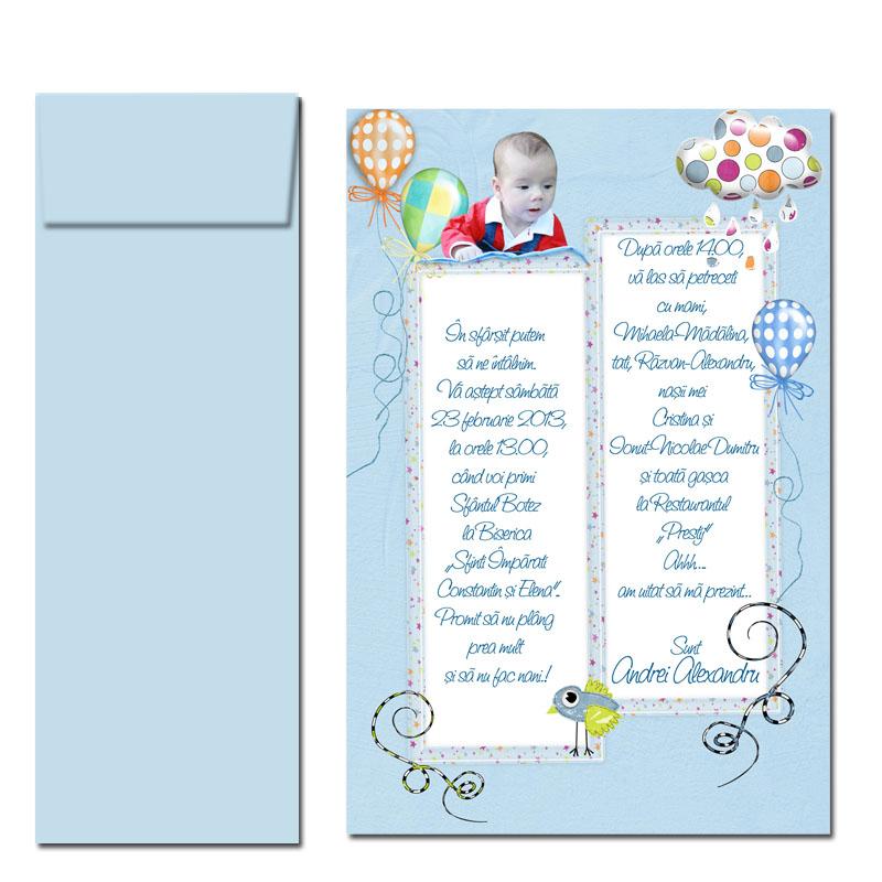 Invitatii Botez Bleu