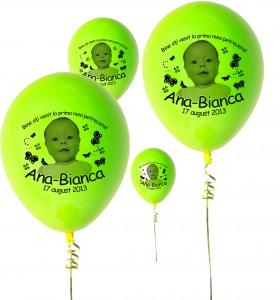 Baloane Botez Colorate Cu Fotografie