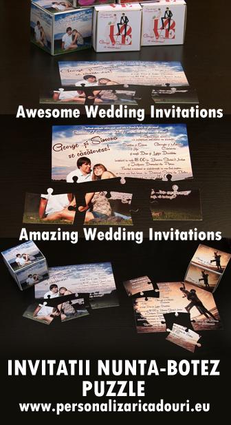 Cele mai tari invitatii de nunta