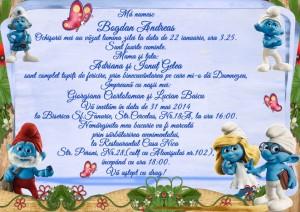 Invitatii Botez Vedere