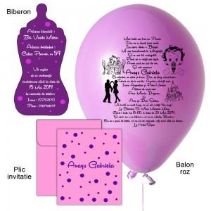 Invitatii Cu Balon Personalizat