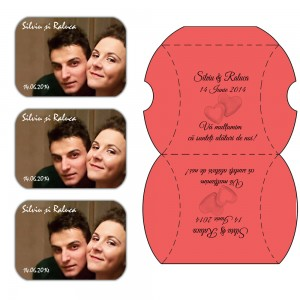 Marturii Magnetice Cutiute Rosii Pentru Nunta