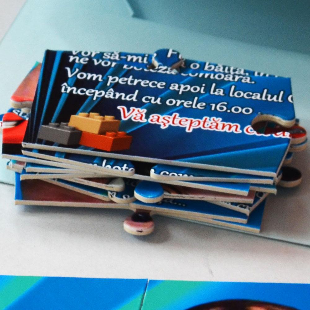 Invitatie puzzle in plic carton