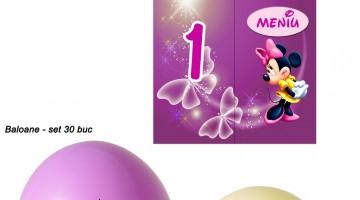 Meniuri Minnie Mouse Numere Masa