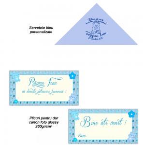 Servetele Si Plicuri Bleu Personalizate