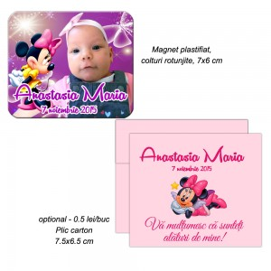 Magnet cu foto si Minnie