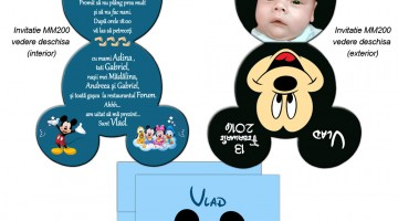 Invitatie Botez Mickey Mouse