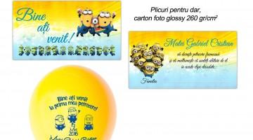 Invitatie Minioni, Plicuri Dar Si Baloane Minionionalizate