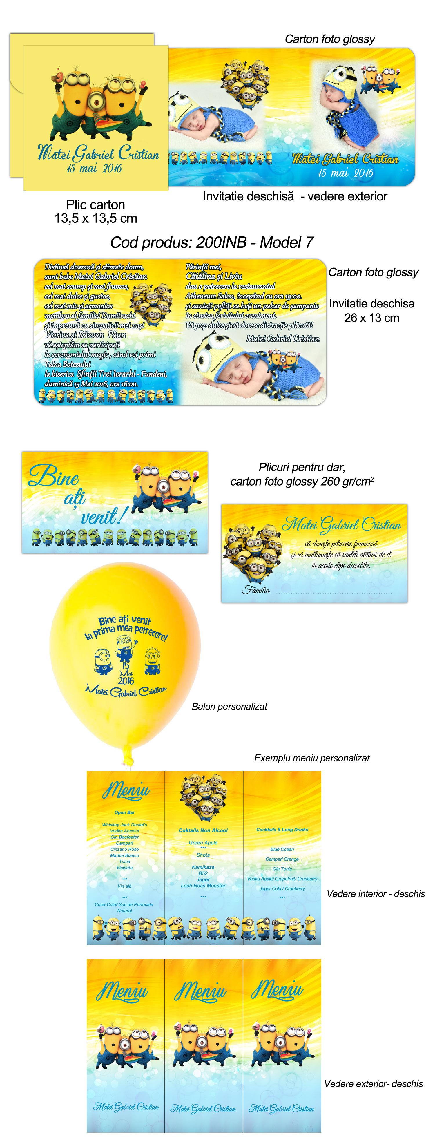 Invitatie Minioni Plicuri Dar Si Baloane Minioni