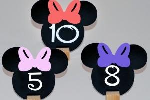 Numere De Masa Minnie Mouse Mousese