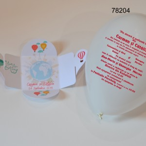 Cutiuta Cu Invitatie Balon