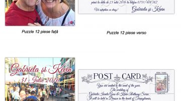 Invitatie Puzzle Post Card