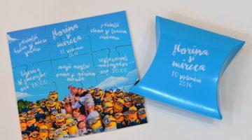 Invitatii Personalizate Puzzle