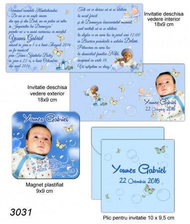 Invitatie Personalizata Pentru Botez cu Magnet