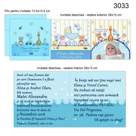 Invitatii Pentru Botez Personalizate cu Fotografia Bebelusului