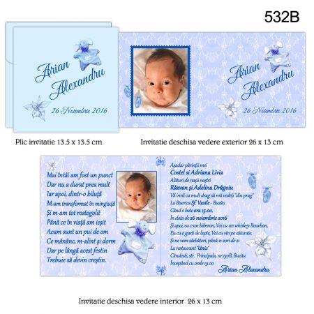 Invitatie Bleu Personalizata