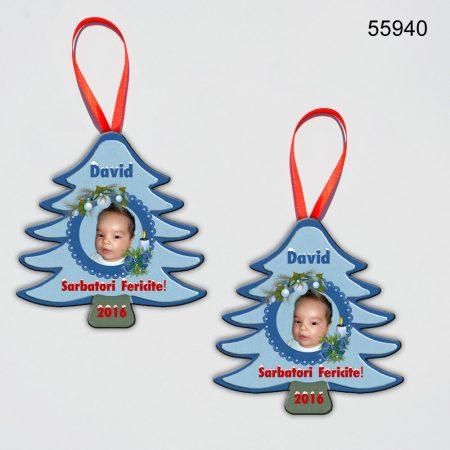 Ornamente Personalizate Brad Craciun