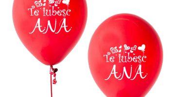 Baloane Rosii Personalizate
