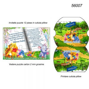 Invitatie Winnie Puzzle Cutiuta