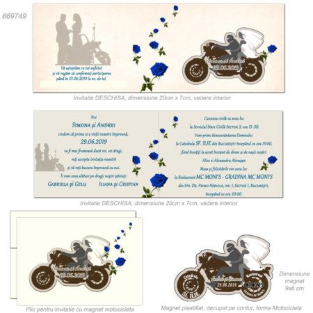 Invitatie Nunta Tematica Motocicleta Miri