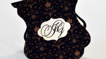 Invitatii Nunta Vintage, Nuanta Neagra, Personalizate Unicate