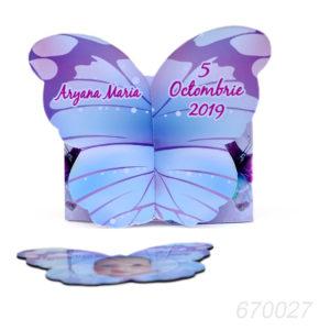 Invitatie Cutiuta Fluture Cu Magnet Fluture