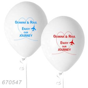 Baloane personalizate pentru nunta tematica travel