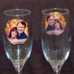 Pahare sampanie nunta personalizate cu fotografie