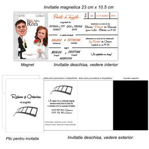 Invitatii Magnetice tematica Cinema