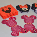 Invitatii personalizate Mickey si Minnie Mouse