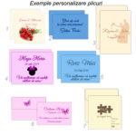 Plicuri colorate personalizate