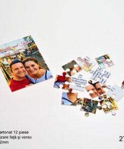 Invitatii Nunta Botez Puzzle 12 Piese Personalizare Fata Verso