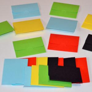 Plicuri Colorate Mici Dimensiune 8cm x 6cm