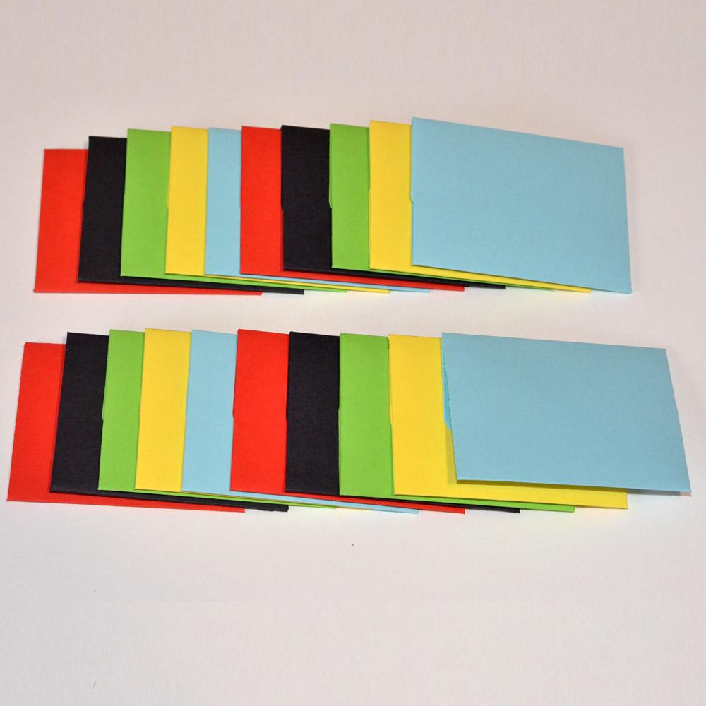 Plicuri Colorate Mici Dimensiune 10.5cm x 7.5cm
