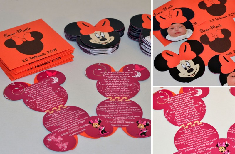 Invitatii Mickey Mouse Minnie Mouse