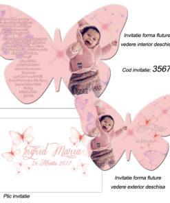 Invitatii Forma Fluture