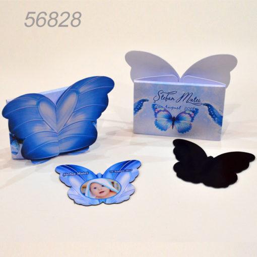 Invitatie Marturie Cutiuta Si Magnet Forma Fluture