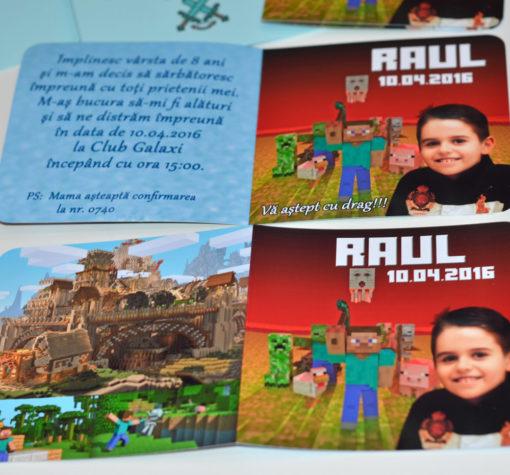 Invitatie Minecraft
