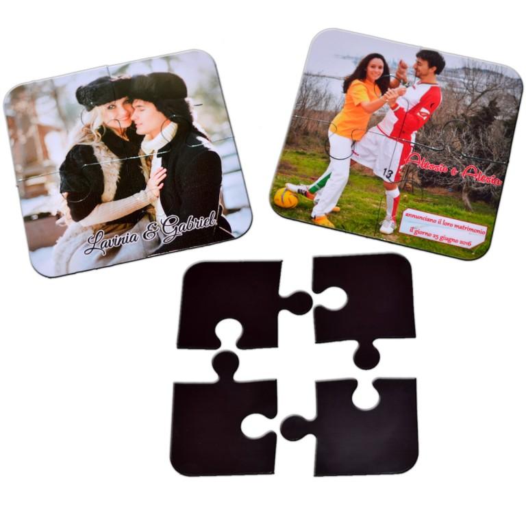 Magneti Marturii Nunta Botez Puzzle 4 Piese