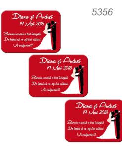 Magneti Marturii Nunta Forma Patrat sau Dreptunghi