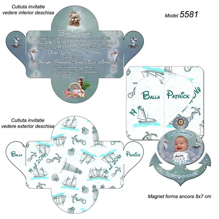 Invitatii Personalizate Cutiuta cu Magnet