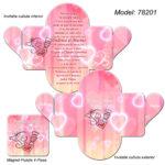 Invitatie Nunta Roz Personalizata cutiuta cu Magnet
