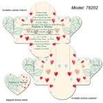 Invitatie Nunta Ivory Personalizata cutiuta cu Magnet