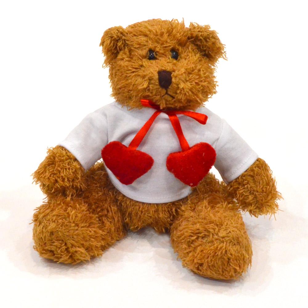 Ursulet Plus Cu Inimioare Si Tricou Personalizat