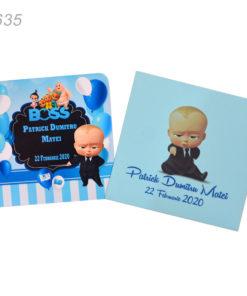 Invitatii Personalizate Baby Boss