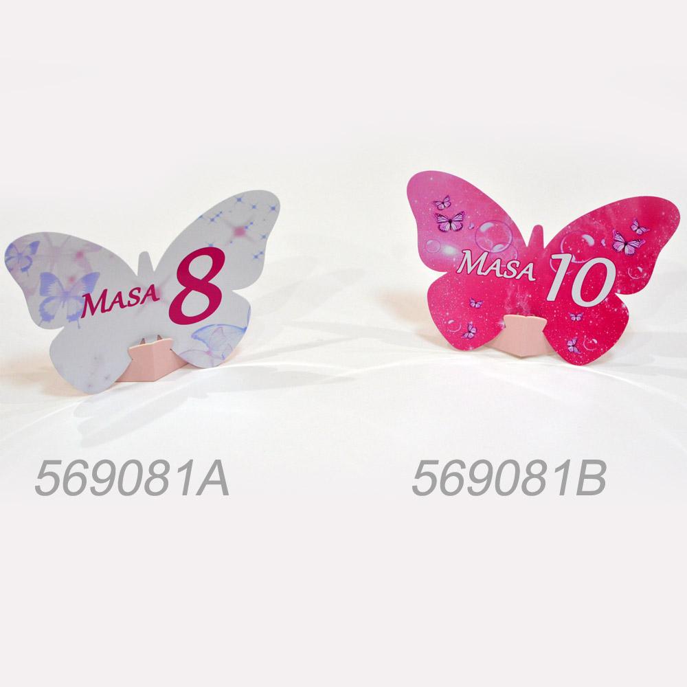 Numar Masa Forma Fluture