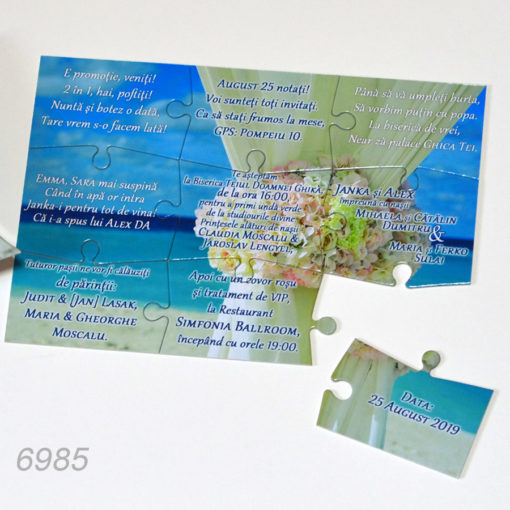 Puzzle Invitatii Nunta
