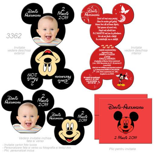 Invitatii Botez Minnie Mickey Mouse