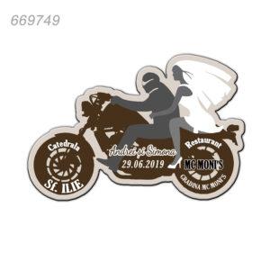 Magneti Marturii Nunta Forma Motocicleta